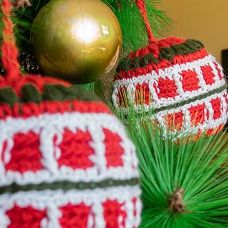 bolas tejidas de navidad