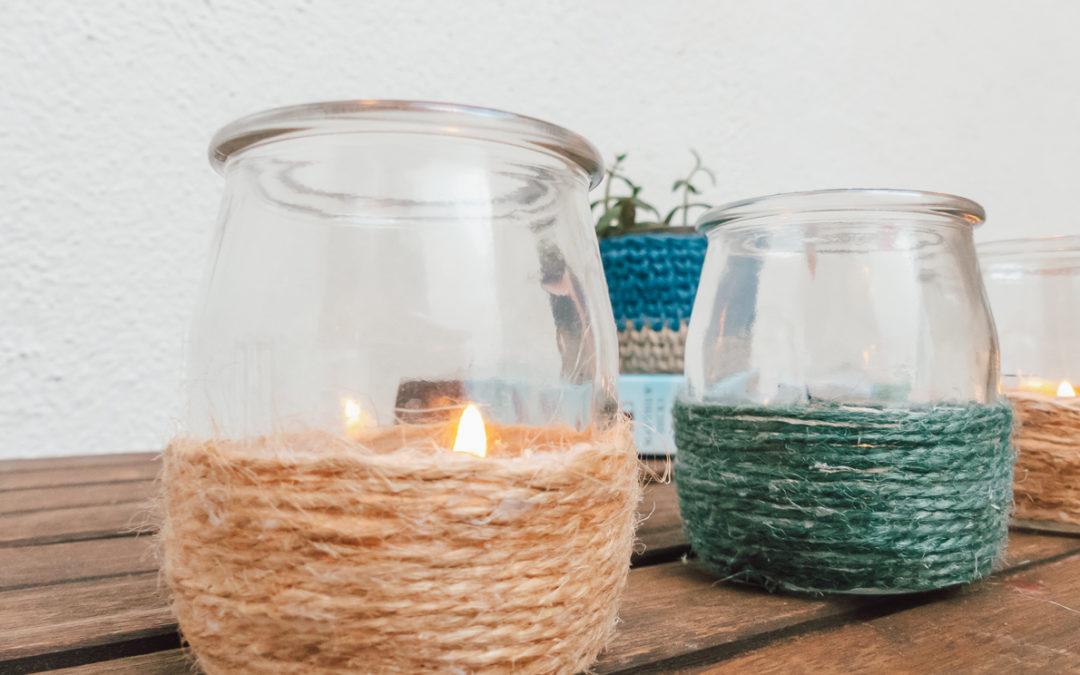 Crea posa velas reciclando tus botes de cristal