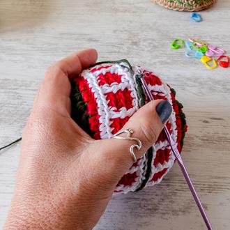 bola de navidad a crochet