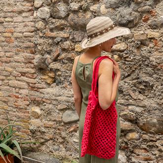 bolso red color sandia