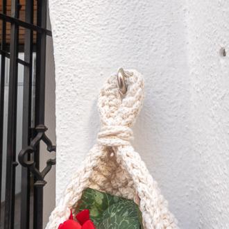 cesta colgante de algodón